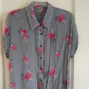 Gently worn flower print blouse